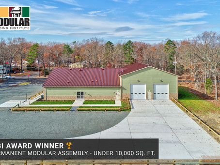 Whitley Manufacturing Wins Industry Award for Modular Fire House and Community Center