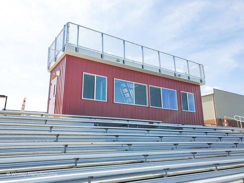 Press box located at a highschool