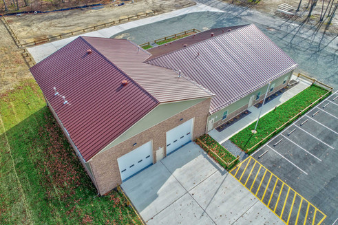 aerial view of modular fire department building located in New Jersey