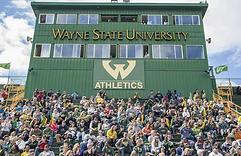 press box built for Wayne State University