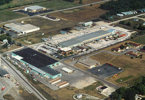 Aerial view of Whitley Manufacturings facility located in South Whitley Indiana