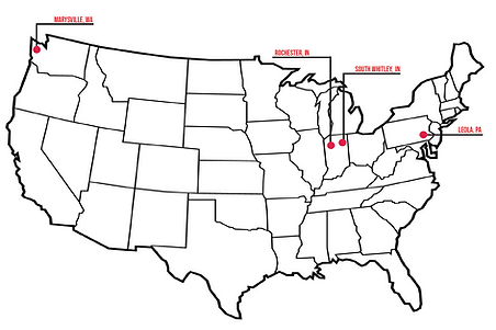 Map of Whitley Manufacturings locations