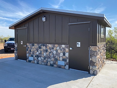 modular built off-grid restrooms