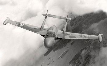 de Havilland DH.112 Venom, J 33, Västerås Flygmuseum