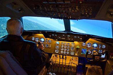 DC-10 simulator, Västerås Flygmuseum
