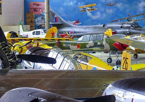 Exempel på vad du kan se i Flygmuseet.