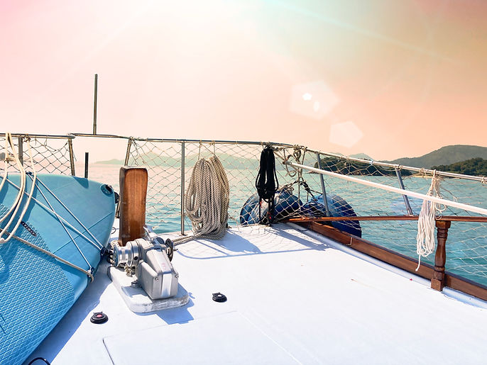 Sunset Junk Boat Sailing