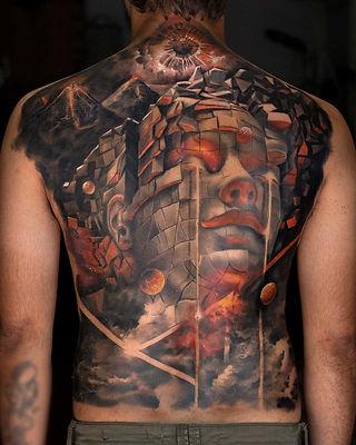 Full back & Full sleeve Tattoos