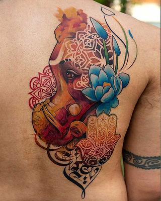 Ganehsa Religious Tattoos