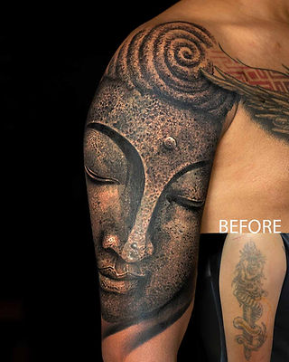 Cover-up Tattoos at Aliens Tattoo