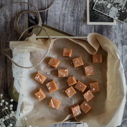 Photographie culinaire - Caramels mous à la fleur de sel