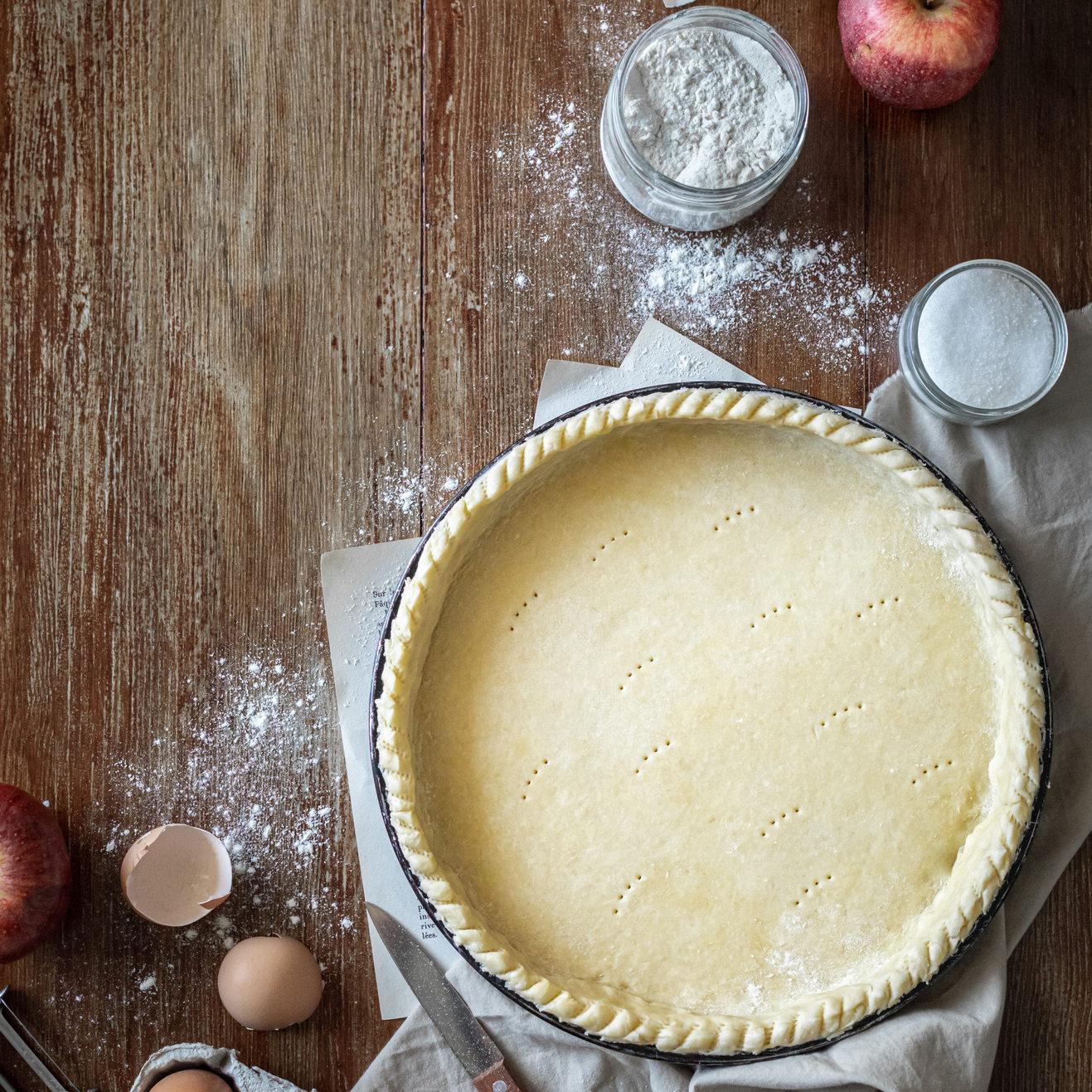 Photographie culinaire - Tarte aux pommes en préparation