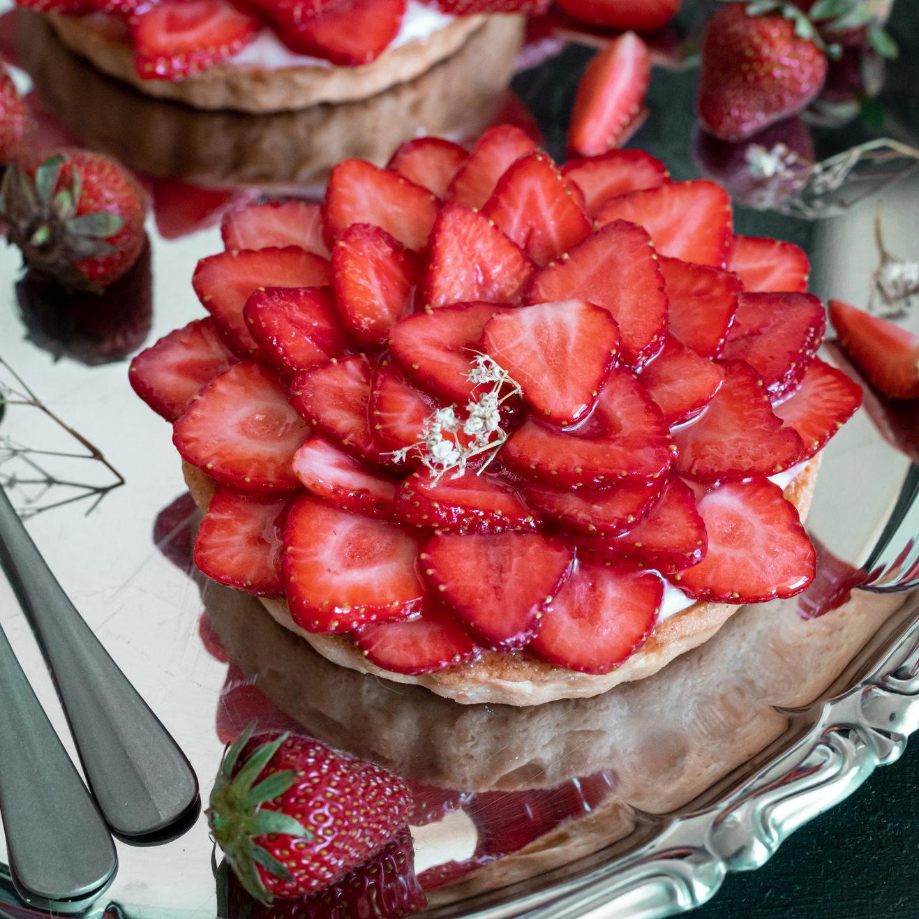 Photographie culinaire - Tartelettes aux fraises