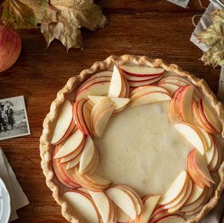 Photographie culinaire - Tarte pomme et vanille