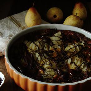 Clafoutis aux poires et chocolat