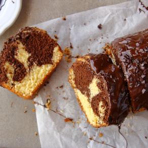 Cake marbré chocolat-vanille