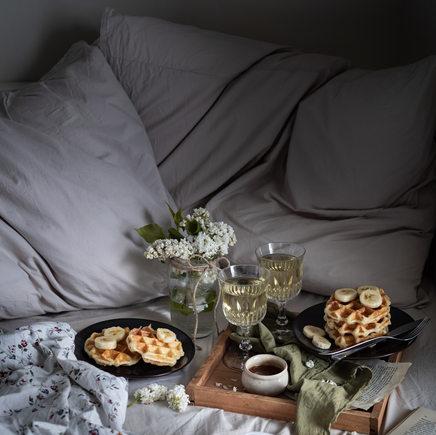 Photographie culinaire - Petit-déjeuner gourmand au lit