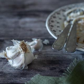 Photographie culinaire - Pâte à la crème d'ail