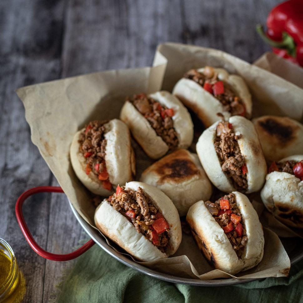 Photographie culinaire - Batbouts viande hachée