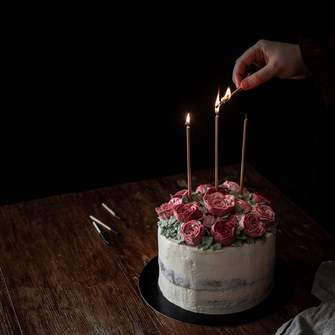 Photographie culinaire - Gâteau d'anniversaire