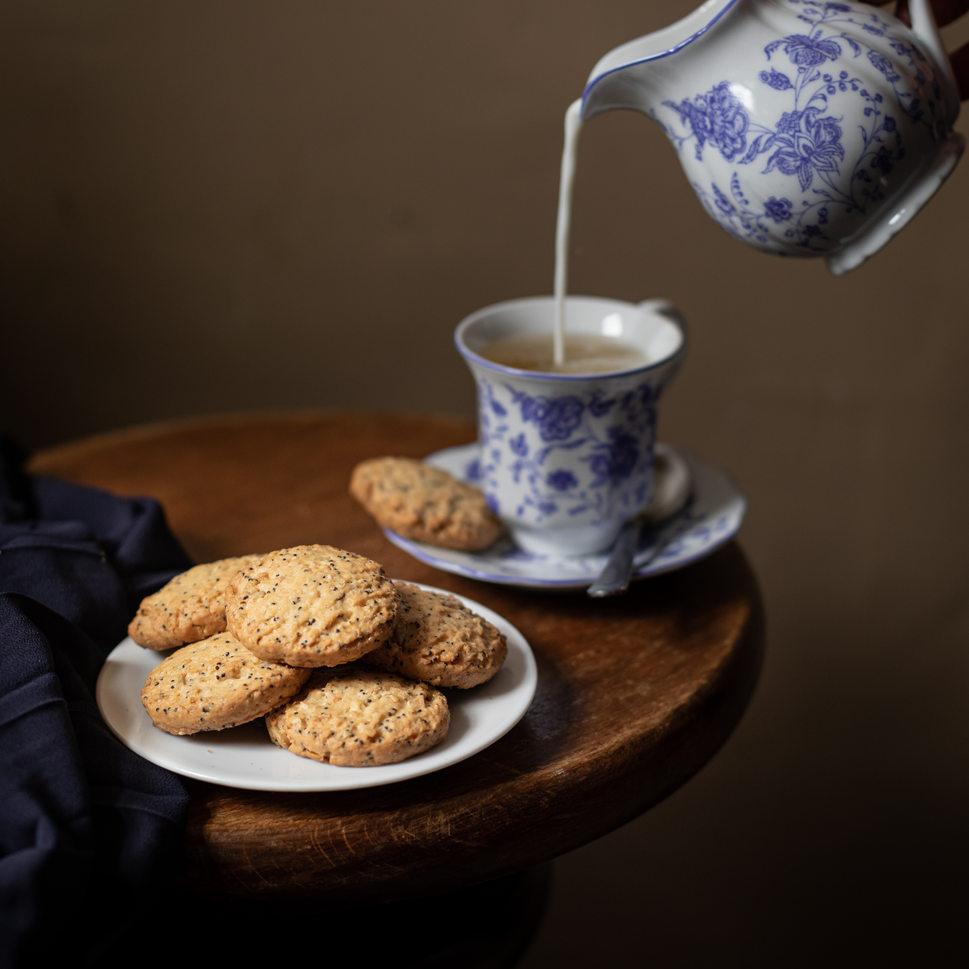 Photographie culinaire - Thé et biscuits