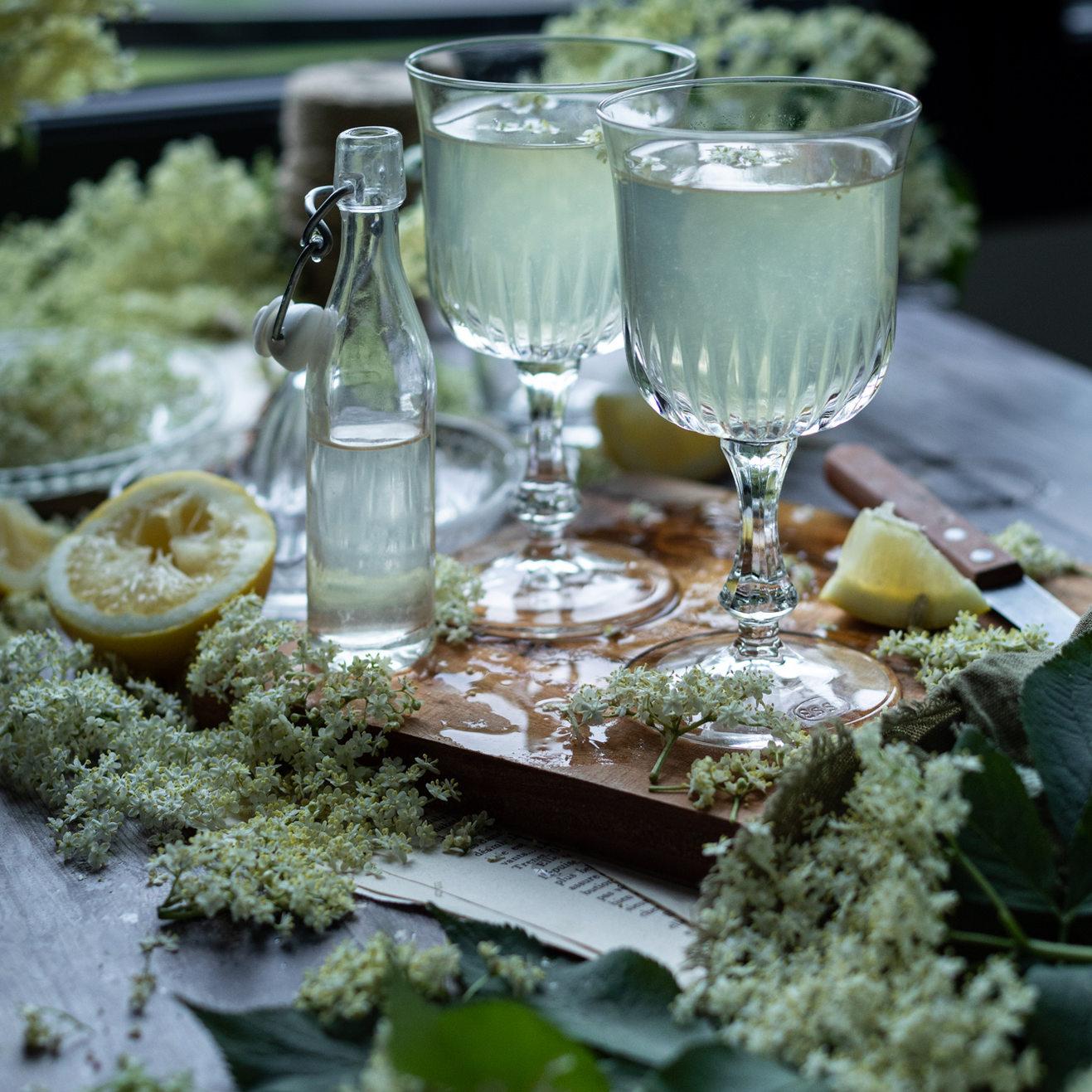 Photographie culinaire - Sirop de sureau