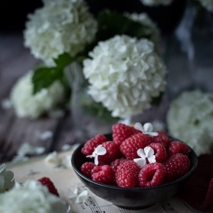 Photographie culinaire - Framboises