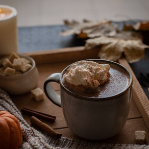 Pumpkin spice hot chocolate I Chocolat chaud à la courge
