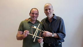 Faszientherapeut Claudio Valerio (li) mit Faszienforscher Dr. Robert Schleip