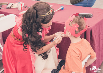 Princesses face painting