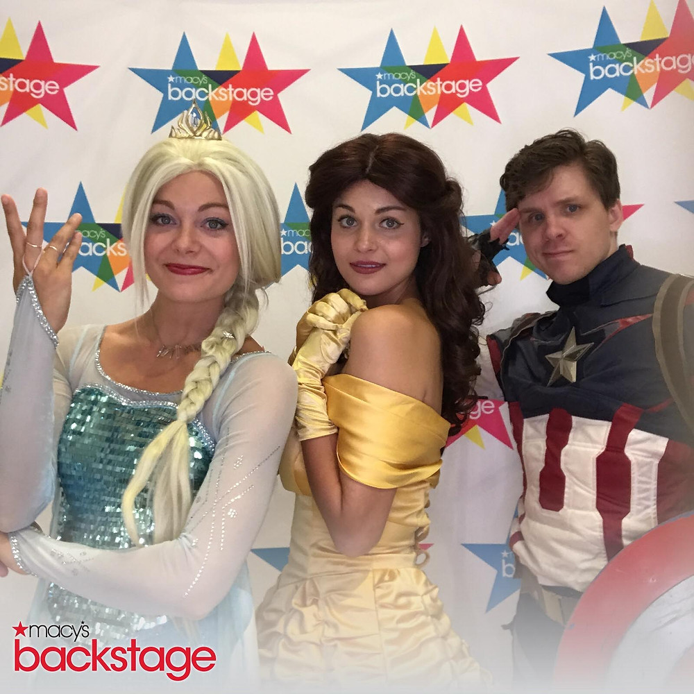 Elsa Belle and Captain America