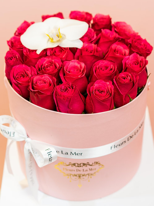 Red Roses (Pink Box)
