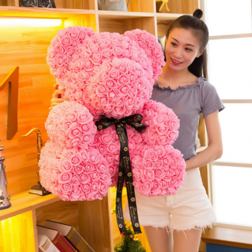 Flower Bear (XL) - Pink