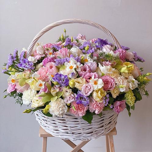 Pastel Lux Flower Basket