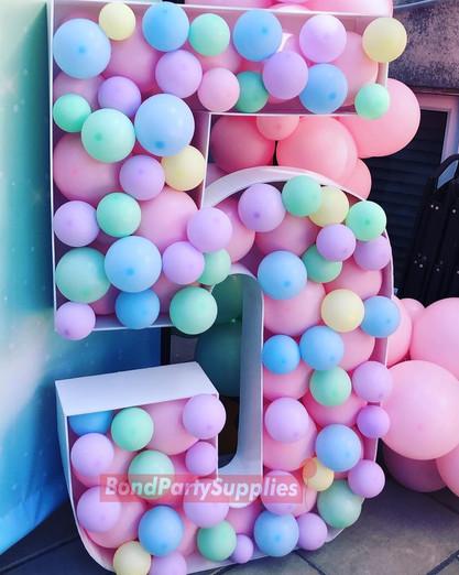Pastel Number Balloon Mosaics