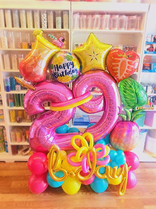 Neon Tropical Balloon Sculpture
