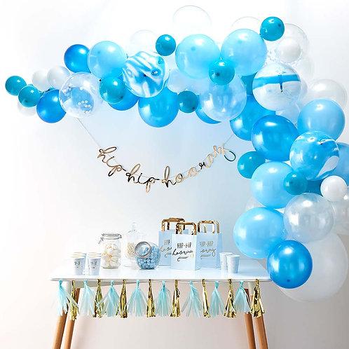 Blue-White Mini Garland