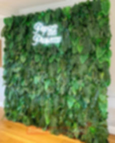 Bond Party Supplies floral flower backdrop decoration and installation