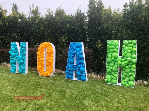 Letter Balloon Mosaics - Bond Party Supplies