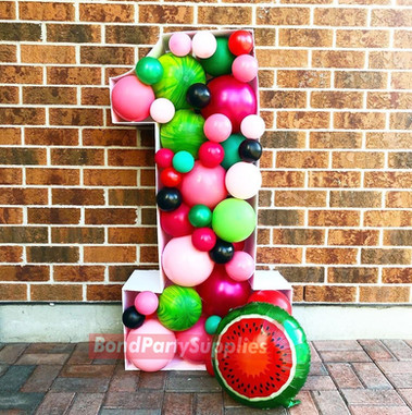 Fruity Number Balloon Mosaics