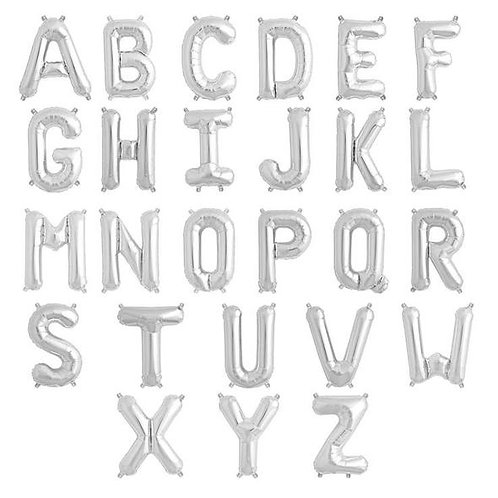 Silver Letter Balloons (Large Size)