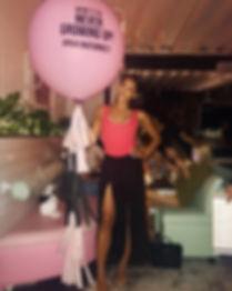 Bond Party Supplies jumbo customized balloons