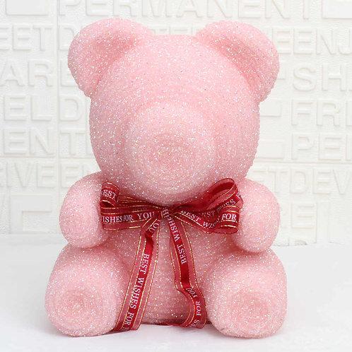 Crystal Diamond Pink Rose Bear (M)