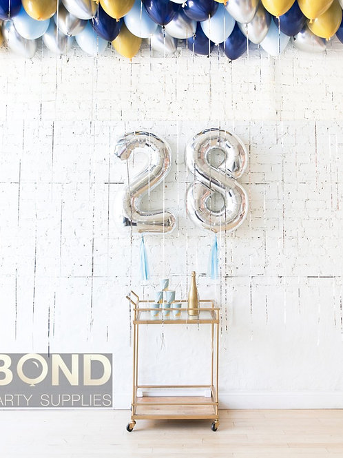 Vintage Birthday Balloon Decor