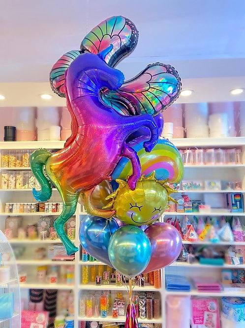 Uni-RainbowCornFly - Balloon Bouquet