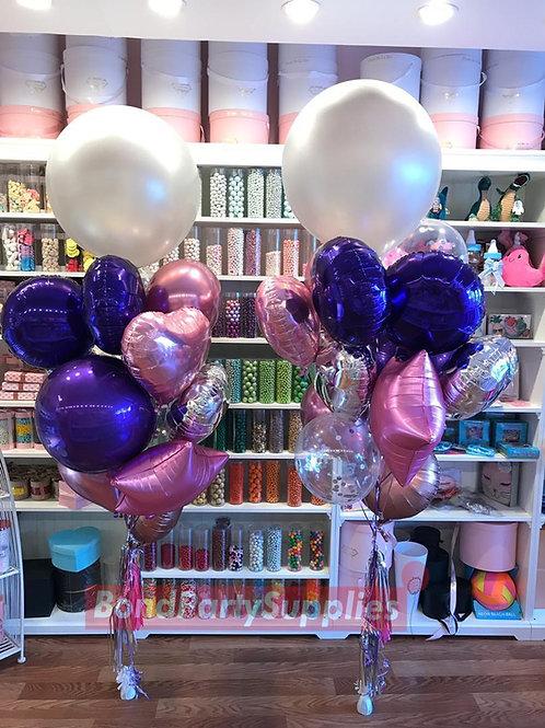 Classic Lux Bouquet  - Silver/Pink/Purple