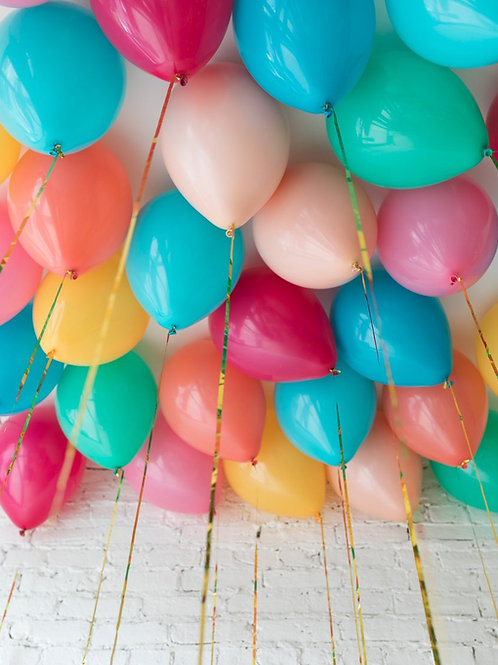 Helium Ceiling Balloons - (Tropical Theme)