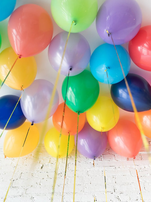 Helium Ceiling Balloons - (Rainbow Theme)