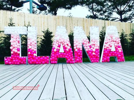 Ombre Letter Balloon Mosaics