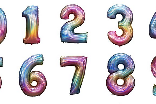 Ombre Number Balloons (Large Size)